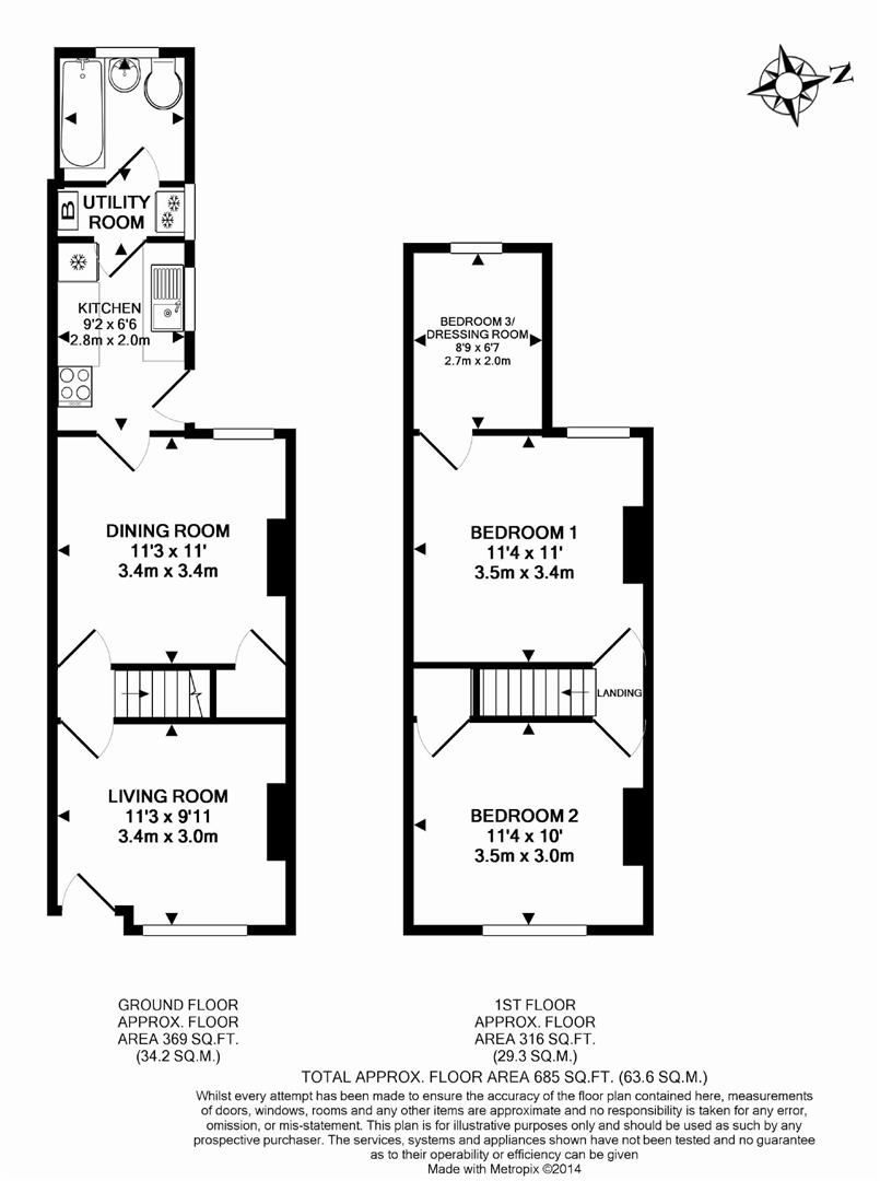 Floorplans For Wolseley Street, Reading