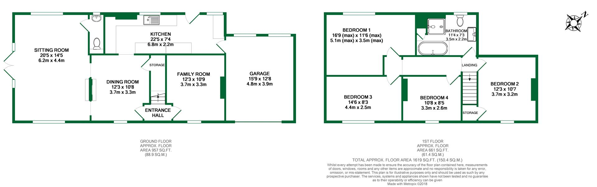 Floorplans For Westend, Waltham St Lawrence