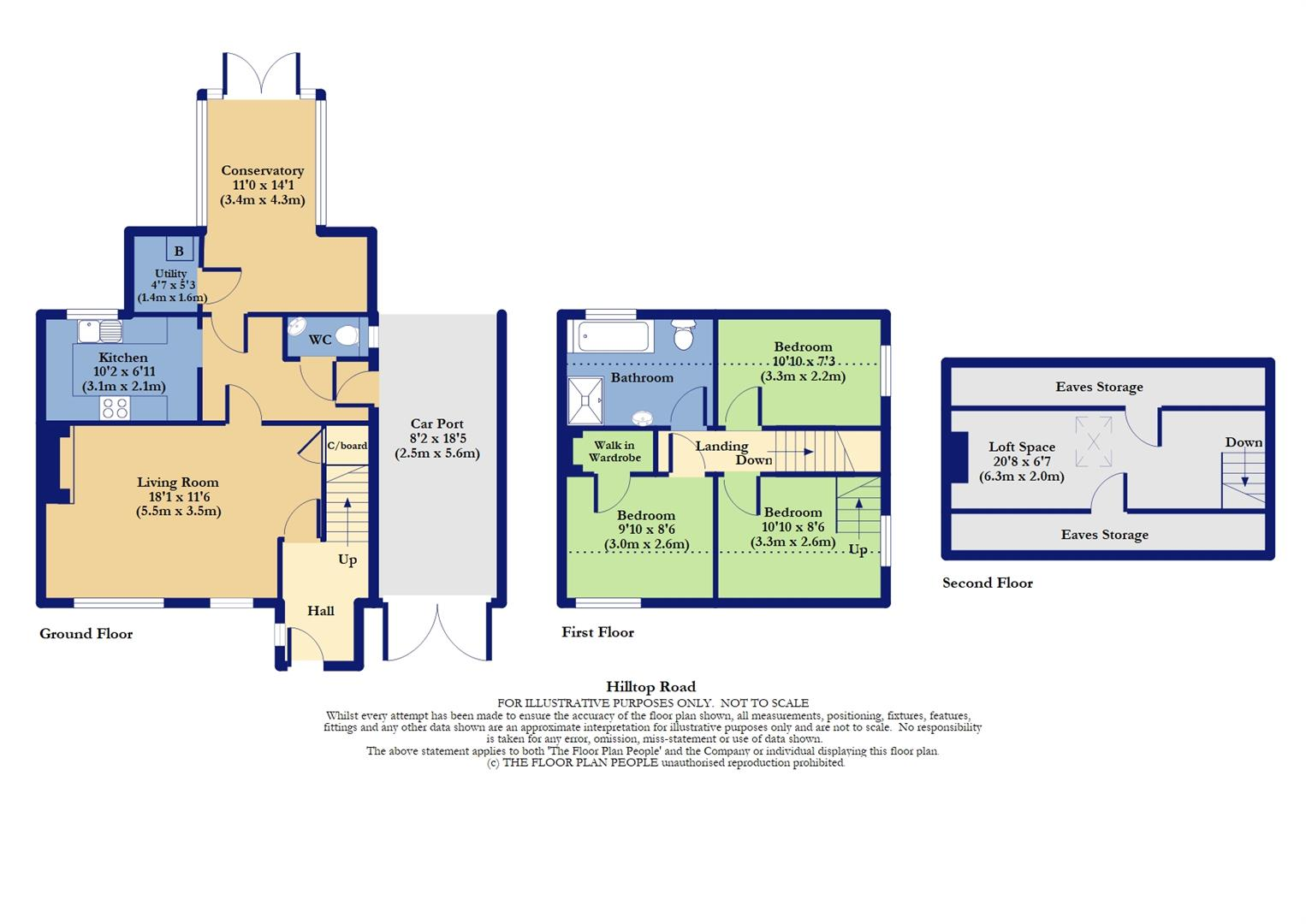 Floorplans For Hilltop Road, Twyford