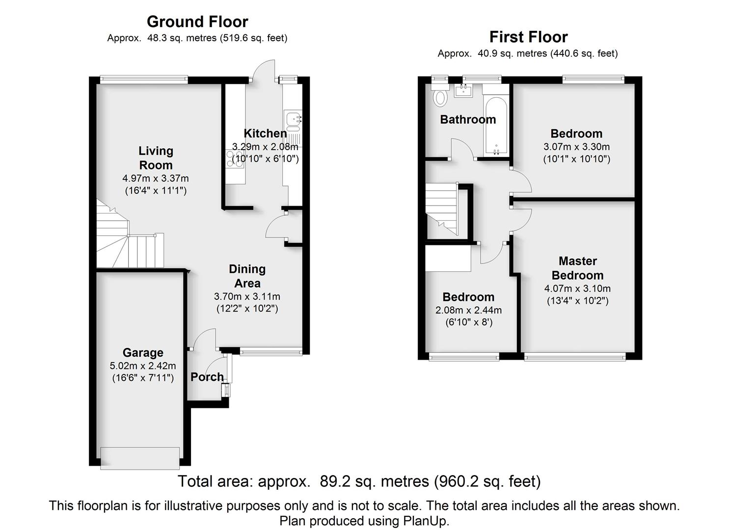 Floorplans For Hanwood Close, Woodley, Reading