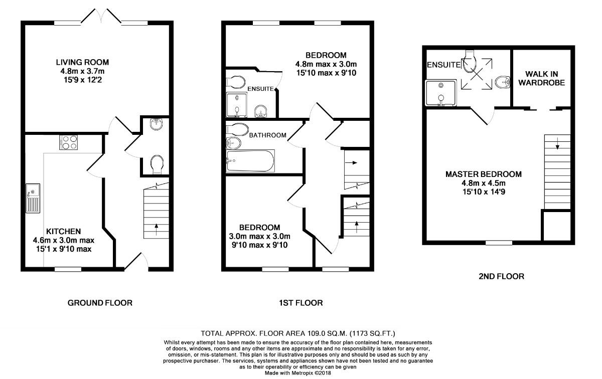 Floorplans For Clover Rise, Woodley, Reading