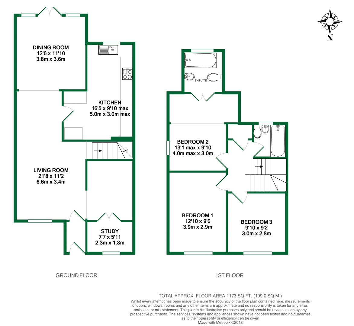 Floorplans For Saleby Close, Lower Earley, Reading