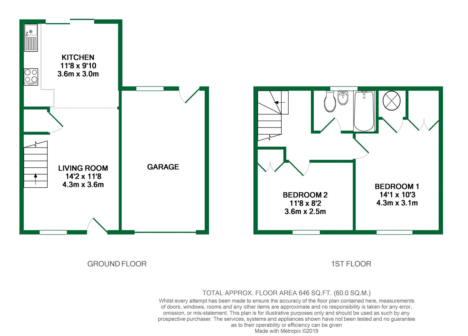 Floorplans For Chilcombe Way, Lower Earley, Reading