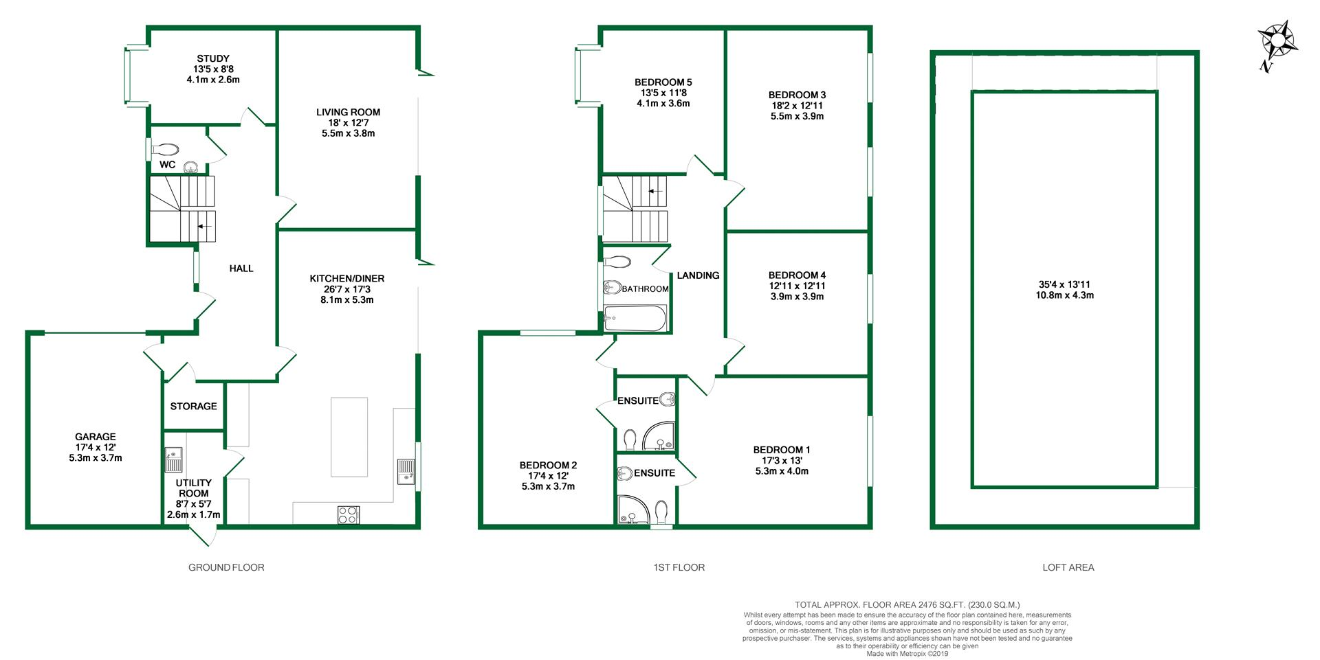 Floorplans For Park View Drive South, Charvil, Reading