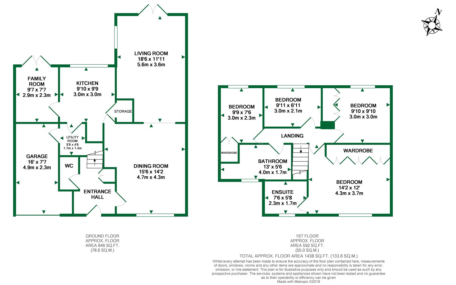Floorplans For Newalls Rise, Wargrave, Reading
