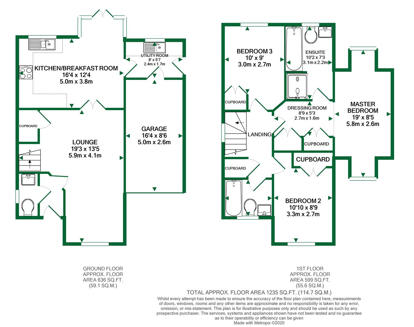 Floorplans For Pipistrelle Way, Charvil, Reading