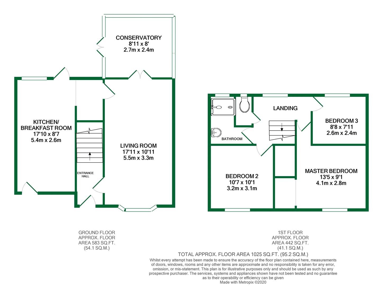 Floorplans For Kingsley Close, Charvil, Reading