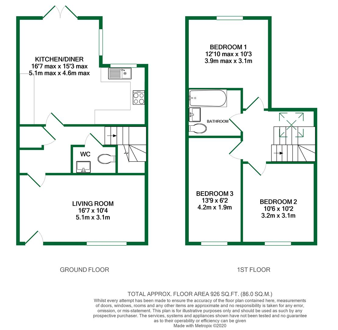 Floorplans For Old Bath Road, Charvil, Reading
