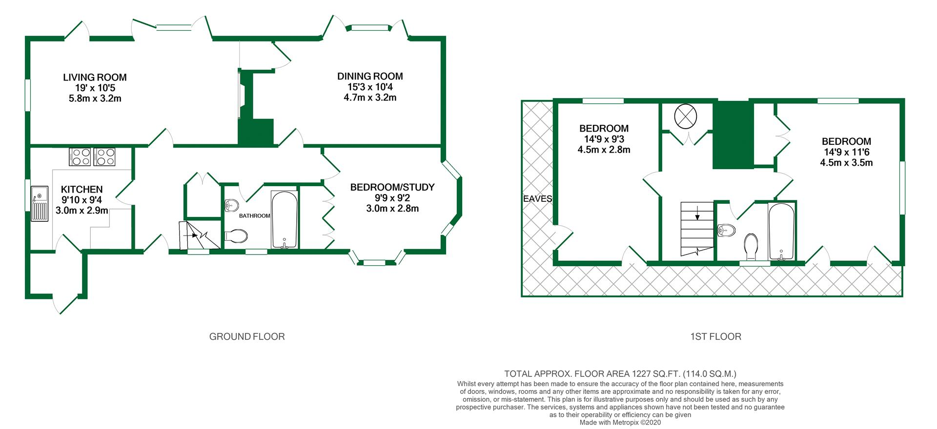 Floorplans For Pound Lane, Sonning, Reading