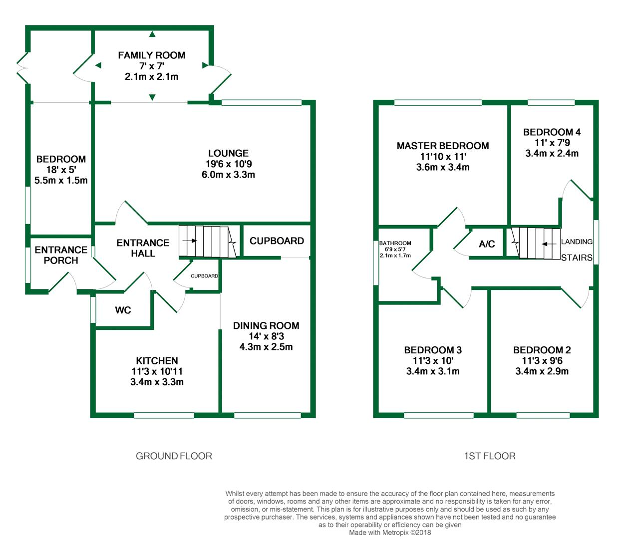 Floorplans For Lunds Farm Road, Woodley, Reading