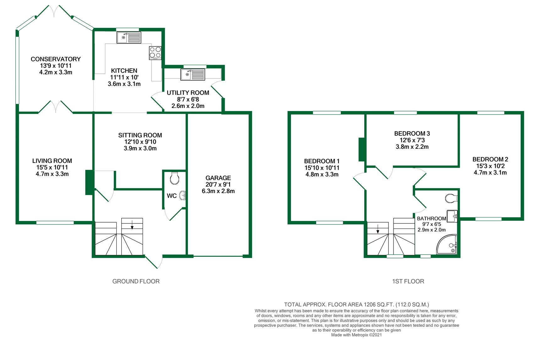 Floorplans For Choseley Road, Knowl Hill, Reading